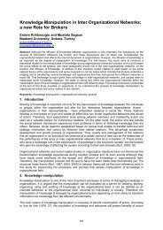 Knowledge Manipulation in Inter Organizational Networks: a new ...
