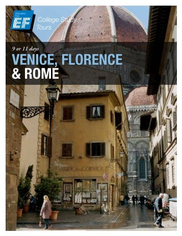 Venice, Florence & rome - EF College Study Tours