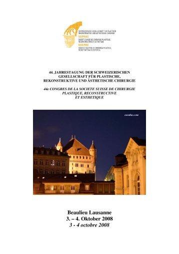 Beaulieu Lausanne 3. – 4. Oktober 2008 3 - 4 ... - sgprac/sscpre
