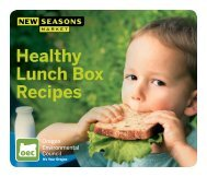 Healthy Lunch Box Recipes - New Seasons Market
