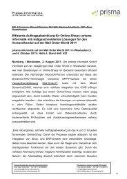 Effiziente Auftragsabwicklung für Online-Shops: prisma informatik ...