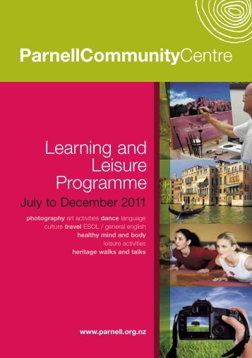 Learning and Leisure Programme ParnellCommunityCentre