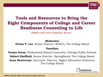 Tools and Resources to Bring the Eight Components of College and ...