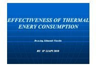 Effectiveness of Thermal Energy Consumption - JELARE