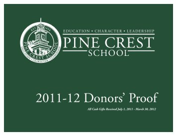 2011-12 Donors' Proof - Pine Crest School