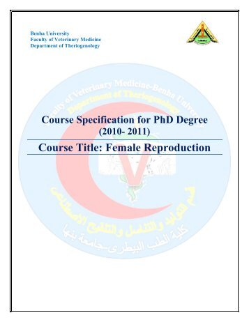 Theriogenology-FVM-BU-PhD-Female reproduction-Course Specs