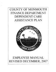 Dependent Care Assistance Plan Employee Manual - Monmouth ...