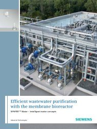 Efficient wastewater purification with the membrane bioreactor
