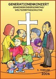 Gemeindekindersonntag 2006 - Kinderwerk