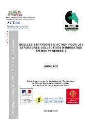 Structures collectives d'Irrigation en Midi-Pyrénées - Chambre ...