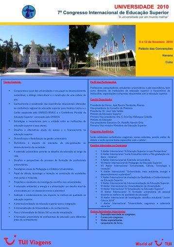 Congresso Universidade - Havana - Fevereiro 2010 - Fenprof
