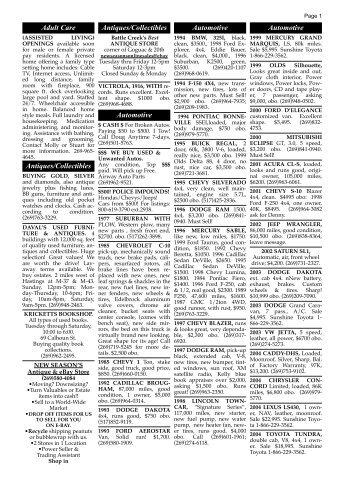 12309 Classified Ads - Battle Creek Shopper News