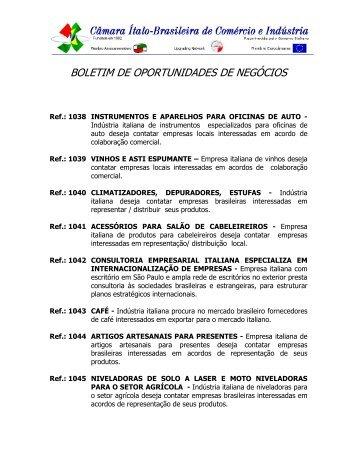 BOLETIM DE OPORTUNIDADES DE NEGÓCIOS