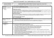 generic risk assessment: rock climbing/abseiling - eRiding