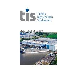 tis - Tiefbau Ingenieurbau Straßenbau 2011 - Fachmagazin für ...