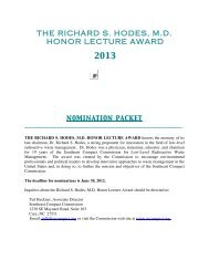 The Richard S. Hodes, M.D. Honor Lecture Award Nomination ...