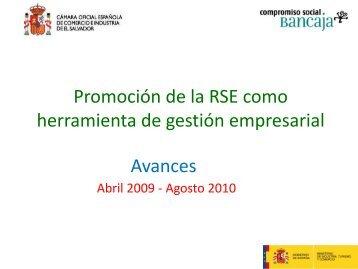Promoción de la RSE como herramienta de gestión empresarial ...