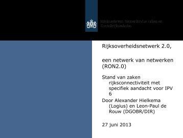 Presentatie Leon-Paul de Rouw en Alexander Hielkema (BZK & Logius ...