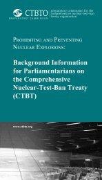 CTBT - Comprehensive Nuclear-Test-Ban Treaty Organization