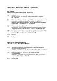 Programm - Fachgruppe Automotive Software Engineering