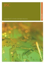 Sustainable ICT in Further and Higher Education A Report for ... - Jisc