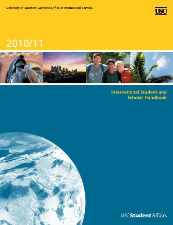 International Student and Scholar Handbook - USC Student Affairs ...