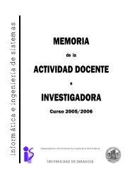 memoria actividad docente investigadora - Departamento de ...