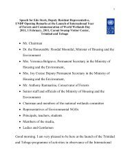 • Mr. Chairman • Dr. the Honourable Roodal Moonilal, Minister of ...