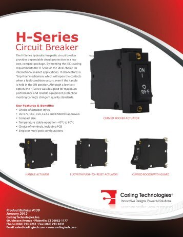 H-Series Circuit Breaker - News 2012 [pdf] - Carling Technologies
