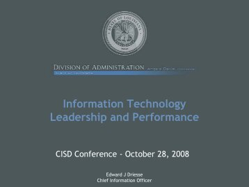 Information Technology Leadership and Performance