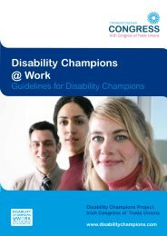 Disability Champions @ Work - Irish Congress of Trade Unions