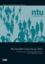 The Swedish Crime Survey 2012 - Brottsförebyggande rådet