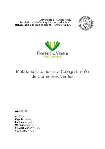 Mobiliario Urbano en la Categorización de Corredores Verdes