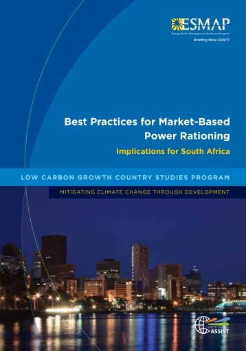 Best Practices for Market-Based Power Rationing - esmap