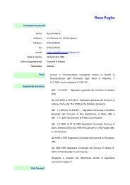 Curriculum Vitae - Comune di Alassio