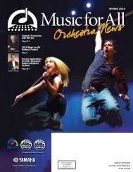 Orchestra Newsletter - May 2010 - Music for All