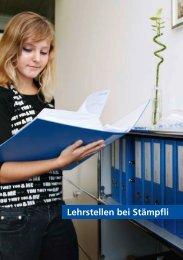 Lehrstellen bei Stämpfli - Stämpfli Publikationen AG