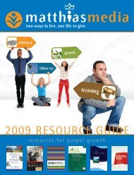 2009 RESOURCE GUIDE - Matthias Media