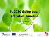 Action Plan - Activities Timeline - EU2020 Going Local