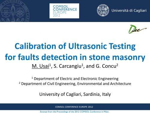 Ultrasonic Testing - COMSOL.com