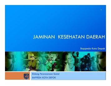 jaminan kesehatan daerah - Bappeda Depok - Pemerintah Kota ...
