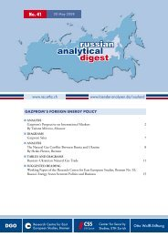 russian analytical digest - Center for Security Studies (CSS)