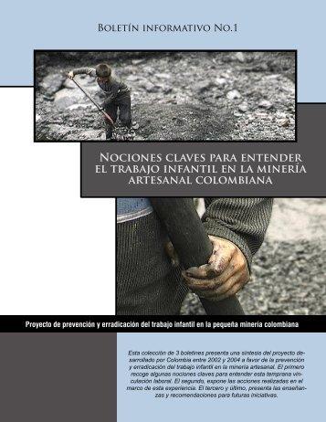 Prevención y erradicación del trabajo infantil en la minería artesanal ...