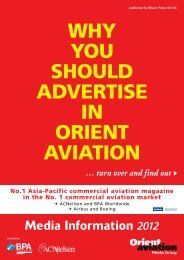 ADvERTISING rates 2012 - Orient Aviation