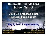 Monday, May 2, 2011 Budget Hearing Presentation - Unionville ...
