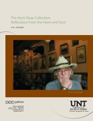 The Hock Shop Collection: Reflections From the ... - UNT Art Gallery