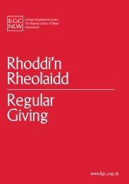 ffurflen rhoddi'n rheolaidd - Llyfrgell Genedlaethol Cymru