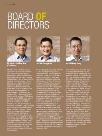 BOARD OF DIRECTORS - Singapore Technologies Engineering