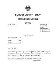 BUNDESGERICHTSHOF - Dr. Axel Czarnetzki LL.M.