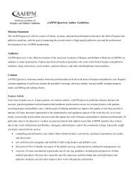 AAHPM Quarterly author guidelines - American Academy of Hospice ...